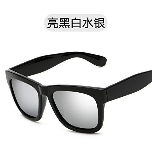 los Sol black Sol Gafas Gafas Brillante Bright polarizadas de Retro cuadradas polarizadas Gafas Sol Modernas Negro and Hombres white Polvo Burenqiq mercury de Oro Gafas de Rosa de de 8w4xqEva