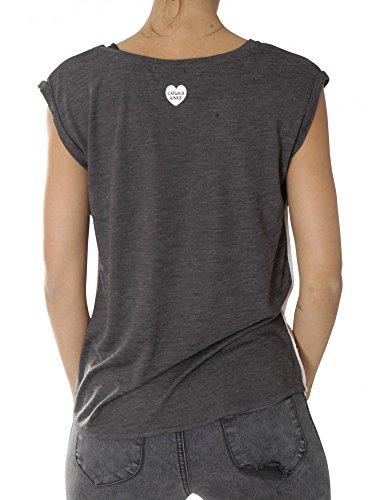 Catwalk Junkie Shirts T-Shirts Ts Magical Bird - Dark Grey Usp 1702010272-155