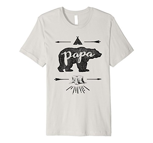 Mens Papa Bear Wild Fathers Day Vintage Family (Mama And Papa Bear Costume)