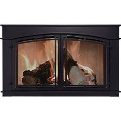Pleasant Hearth Fieldcrest Fireplace Glass Door - Black, Model# FC-5904 from Pleasant Hearth