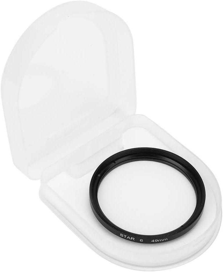 Yunir Filtro de Estrella aleaci/ón de Aluminio Vidrio /óptico Accesorio de Filtro de Estrella de 49 mm para c/ámaras SLR con un di/ámetro de 49 mm//1.9in