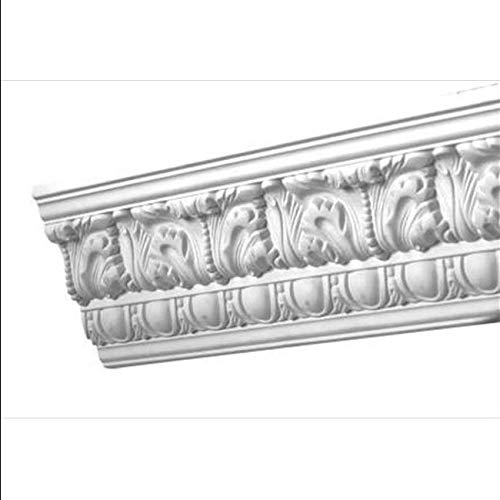 96 x 4.5 in. Egg and Dart Acanthus Crown Moulding