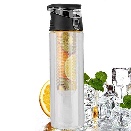WeiSocket Lemon Juice Infusing Make Bottle Fruit Infuser and Flip Lid Plastic Cup 800ML