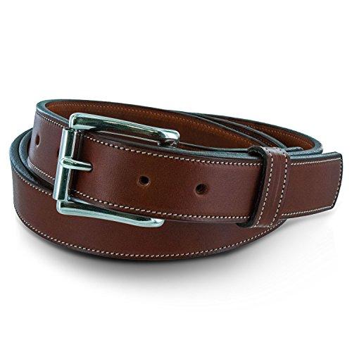 Hanks The Highland Lined Leather Belt 1 1/4 Oak - Size (Leather Slip Belt)