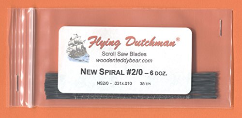 Flying Dutchman New Spiral #2/0 Six Dozen Scroll Saw Blade Pack