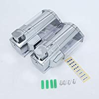 Soporte de pared 300/ml dispensador de doble soporte de cromo