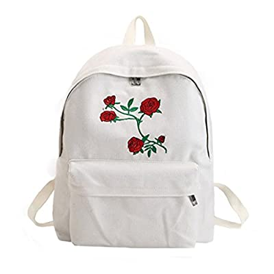 2a34fdfce558 delicate Afco Canvas Travel Double Shoulder Bag Rose Flower ...
