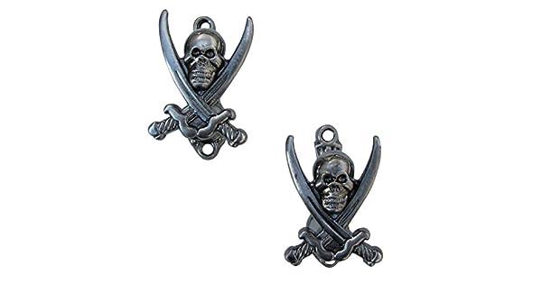 Amazon.com: 2 ganchos pirata Jolly Roger Soporte de pared ...