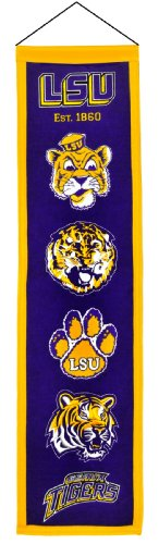 NCAA LSU Tigers Purple Heritage Banner