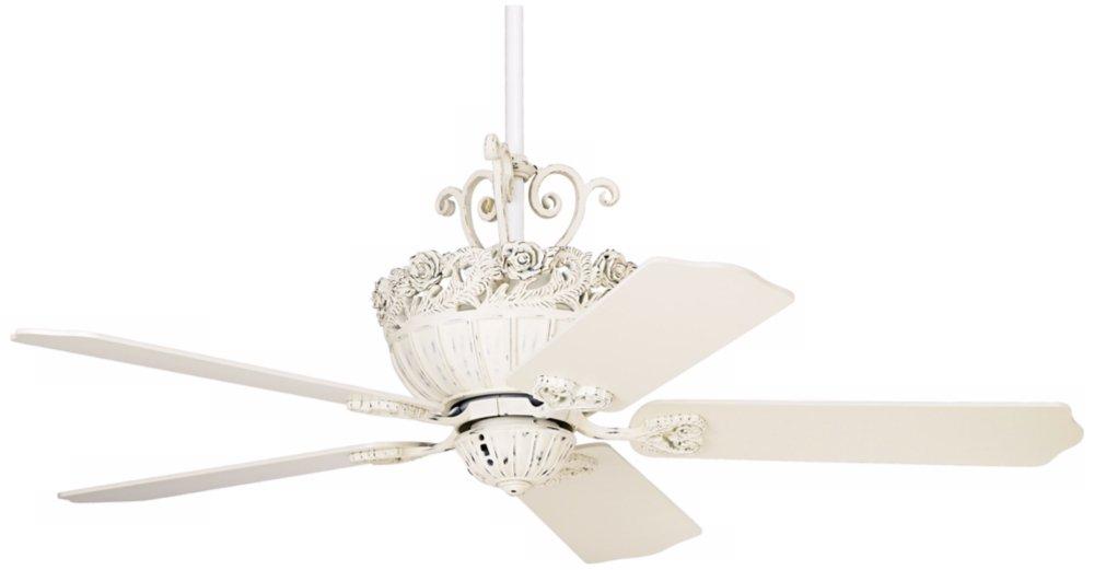 52 casa chic rubbed white ceiling fan chandelier fan amazon com