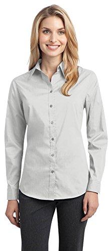 s Stretch Poplin Shirt, White, XX-Large ()
