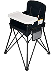 VEEYOO Baby High Chair with Removable Tray - Portable High Chair for Eating and Feeding, Indoor and Outdoor, Compact Fold, Black