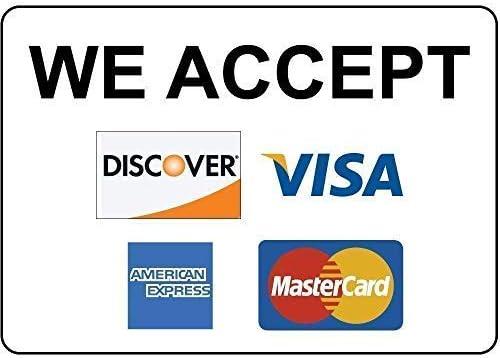 WallAdorn We Accept Discover Visa American E Press MasterCard