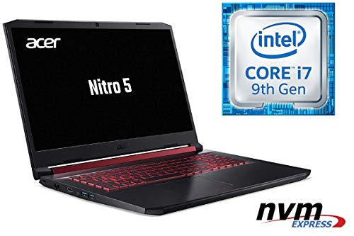 Notebook Nitro 5 AN517 – CORE i7-9750H – 16GB DDR4-RAM – 512GB SSD + 1000GB HDD – Windows 10 PRO – 44cm (17.3″) Full HD Display MATT – CAD / Gaming