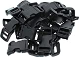 """Army Universe 50 Pack - 1/2"""" Contoured Side Release Buckles Black"""