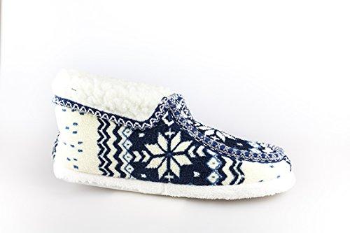 Unbekannt - Zapatillas de estar por casa de Lana para mujer 42 Azul - azul