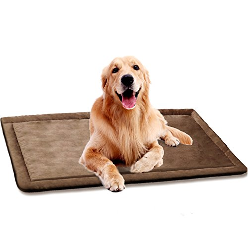 SHU UFANRO Dog Cushion Cover Dog Bed for Crate Dog Kennel Mat Pet Bed Mattress Washable Pad for Pet Cat 40'' x 27'' by SHU UFANRO
