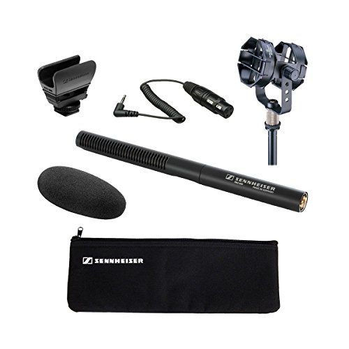 hotgun Microphone with Audio-Technica AT8415 Shock Mount and Sennheiser KA 600 - XLR Female to 1/8