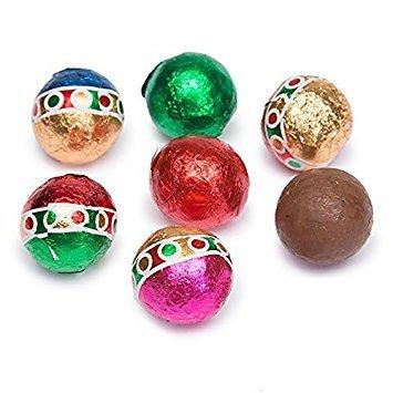 Christmas Solid Milk Chocolate Balls (2 Lb - Approx 160 Pcs) (Milk Chocolate Balls Solid)
