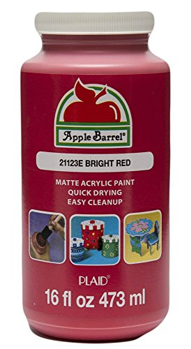Apple Barrel Acrylic Paint in Assorted Colors (16 Ounce), 21123 Bright Red -