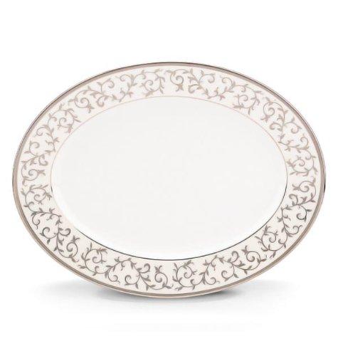 Lenox Opal Innocence Silver Oval Platter (Oval Classic Platinum Platter)