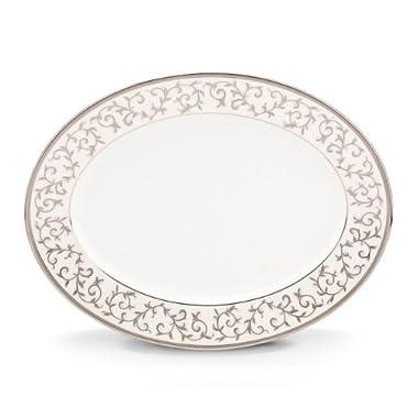 Lenox Opal Innocence Silver Oval Platter