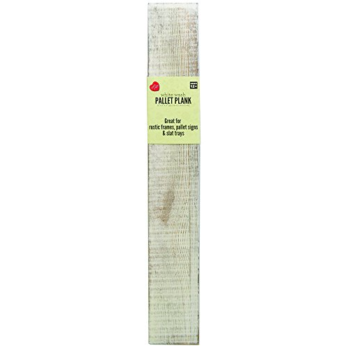 Lara's Crafts Rustic Plank - White Wash - 14 inches x 2 inches