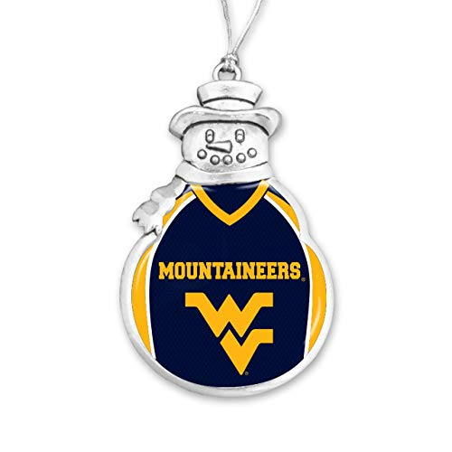 From the Heart West Virginia Christmas Ornament - Snowman with Football Jersey