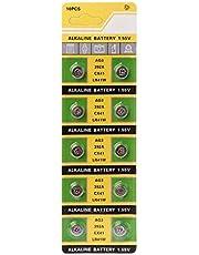 FXCO 10 Stück Alkaline Batterie AG3 1,55 V Knopf Batterien SR41 192 L736 384 SR41SW CX41 LR41 392 Lampe Kette Finger Licht Uhr Spielzeug Fernsteuerung