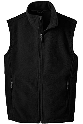 Fleece Mens Vest - Joe's USA(tm) - Men's Soft and Cozy Fleece Vest in Men's,Black,Large