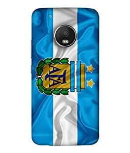 ColorKing Football Argentina 05 Multicolor shell case cover for Motorola Moto G5 Plus