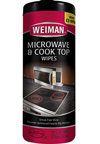Weiman Microwave & Cook Top Wipes - 4 packs of 30 wipes (Cooks Microwave)