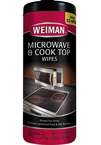 Weiman Microwave & Cook Top Wipes - 4 packs of 30 wipes