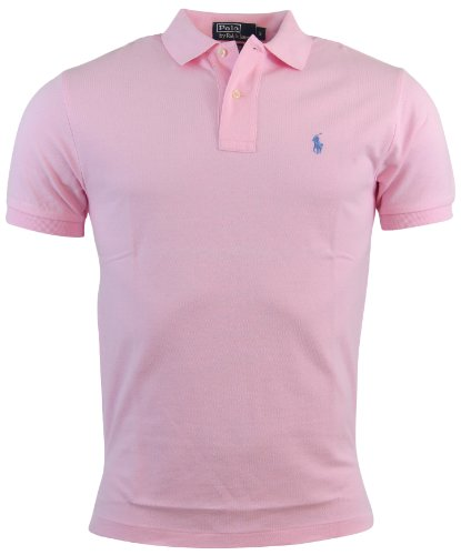 Polo Ralph Lauren Mens Classic Fit Mesh Polo Shirt - S - Pink