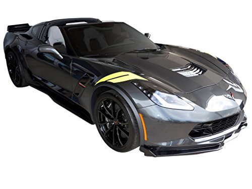 Grand Wide Body - 2016 2017 Corvette C7 Wide Body Grand Sport Z06 Hash Marks Decals Stripes Kit L&R - Torch Red