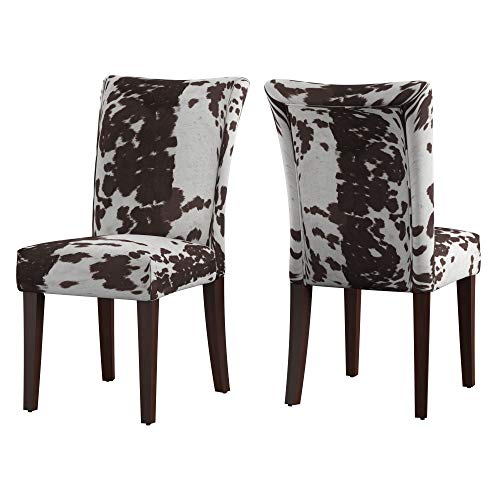 Union 5 Home Vichy Brown Print Parsons Dining Side Chair – Set of 2