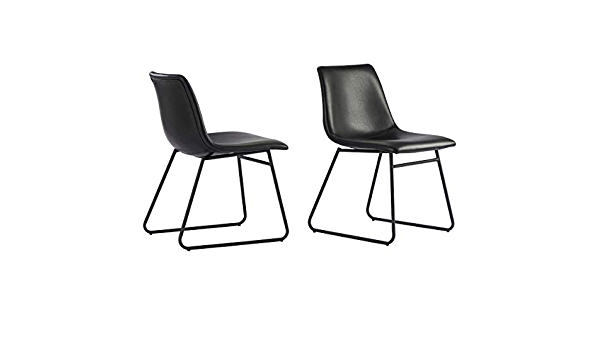 Amazon Com Better Homes Gardens Theodore Curved Plywood Seat And Back Dining Chairs Set Of 2 Black Kitchen Dining
