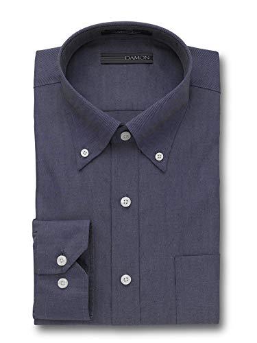(Damon Ultra Pinpoint Dress Shirt | Button Down Collar Navy 16 x 34/35)