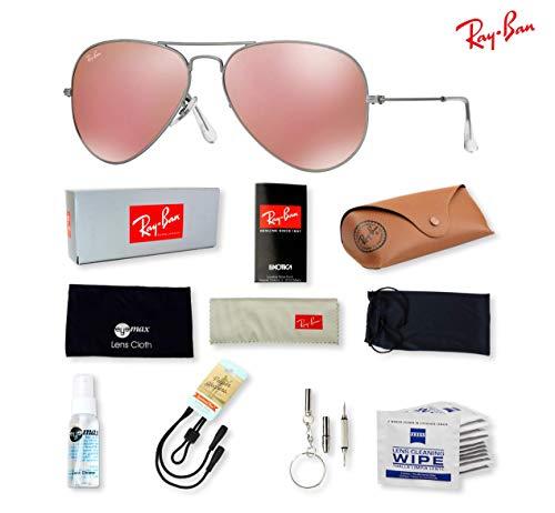 RB3025 (019/Z2) Matte Silver/Brown Mirror Pink 55mm