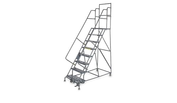 TriArc – KDSR10746-D2 – Escalera de rodillo de 7 peldaños, paso perforado, 106 altura total, 450 lb Capacidad de carga: Amazon.es: Bricolaje y herramientas