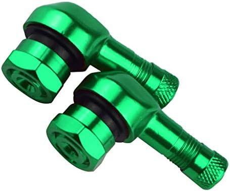 タイヤステム オートバイバルブステム バルブキャップ 軽量設計 合理設計 取り替え 互換性 全10色 - 緑