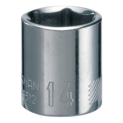 CRAFTSMAN Shallow Socket, Metric, 1/4-Inch Drive, 14mm, 6-Point (CMMT43512)