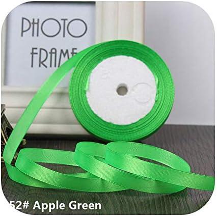 kawayi-桃 25ヤード/ロールグログランサテンリボン結婚式のクリスマスパーティーの装飾6mm-40mm DIY弓クラフトリボンカードギフト-Apple Green-20mm