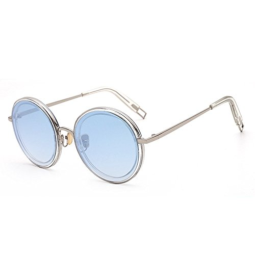 de redondas gafas Tres 6 Gafas de sol de gafas y y sol Shop de calle femeninas sol de personalizadas Gafas metálicas masculinas moda f6wx8