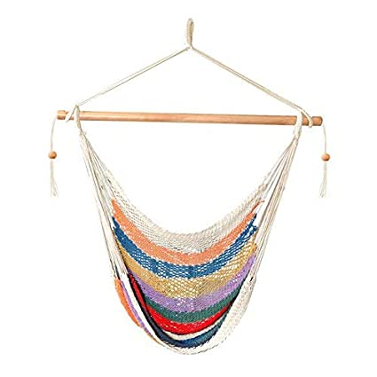 Excellent Bliss Hammocks Bhc 412 Island Rope Hammock Chair Multicolor Pabps2019 Chair Design Images Pabps2019Com