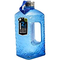 2.2L Plastic Water Bottle Large Capacity with Carrying Loop BPA Free Leakproof Jug Container Resin Fitness for Camping Training Bicycle Gym Outdoor Sports -Bottle (Blue)
