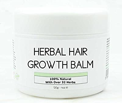 Hair Growth Herbal Organic Balm 100% Natural Promotes Growth Intense Treatment for Natural Relaxed, Chemically Treated, Afro, African American. With Shea Butter, Coconut Oil Argan Jamaican Castor Oil
