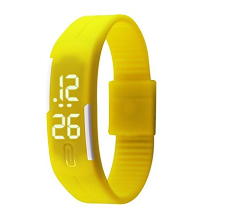 963358a86 Buy Glitter Collection Unisex Led Digital Watches Jelly Black Wristwatch  Magnet Lock - Yellow Online at Low Prices in India - Amazon.in