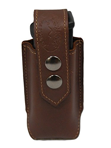 Barsony New Brown Leather Single Magazine Pouch for Ruger SR9 SR40 (Ruger Sr40 Ammo)