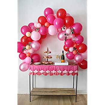 Amazon.com: Pink Balloon Garland Kit, 75 Pack 12inch 5inch ...